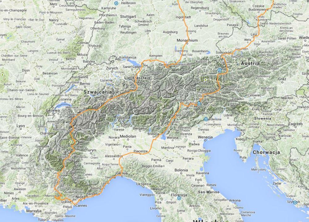 Alpy 2004 - trasy w Alpach