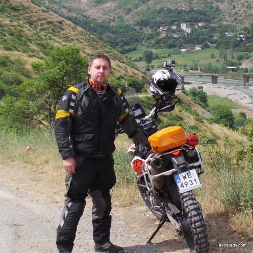Michał z KTM-em