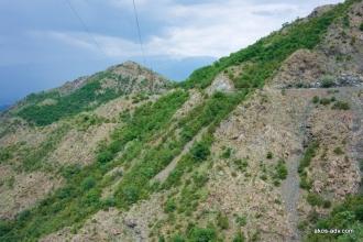 Droga SH38 za Burrel - zaczynamy wspinaczkę na Qafa Shtame