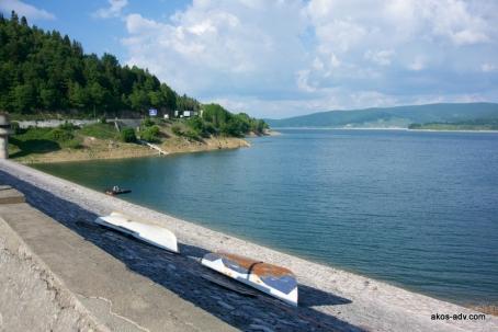 Zapora na jeziorze Mavrovo