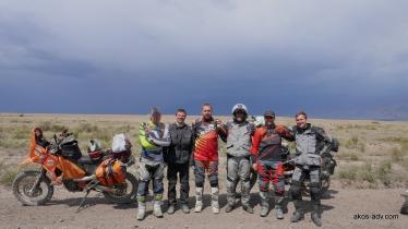 Spotkanie z rosyjskimi motocyklistami w drodze na Son-Kul