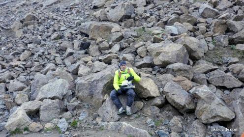 Odpoczynek na przełęczy Tosor