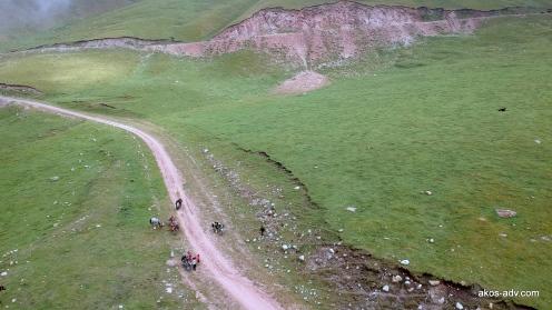 Postój w drodze z Tosoru nad Issyk-Kul