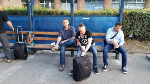 Poranek przed lotniskiem Manas w Biszkeku