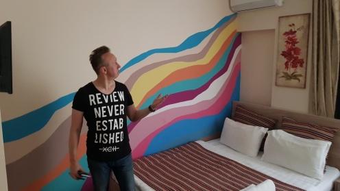 Jeden z pokoi hotelowych w Gostinicy Okiean w centrum Biszkeku