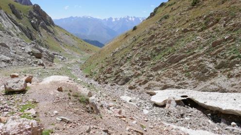 Droga w górnej części doliny Terek